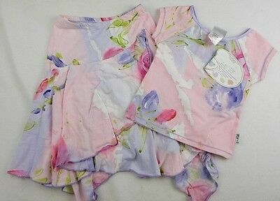 new 4y BALU girls designer hand painted skirt & matching cropped top NWT set £70