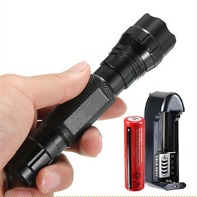 Tactical UltraFire CREE Q5 LED WF-501B Flashlight Torch 18650 Battery + Charger