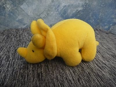Russ Yellow mini Dinosaur Triceratops