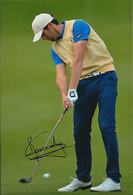 Gregory BOURDY SIGNED AUTOGRAPH 12x8 Photo AFTAL COA European Tour Golf Winner