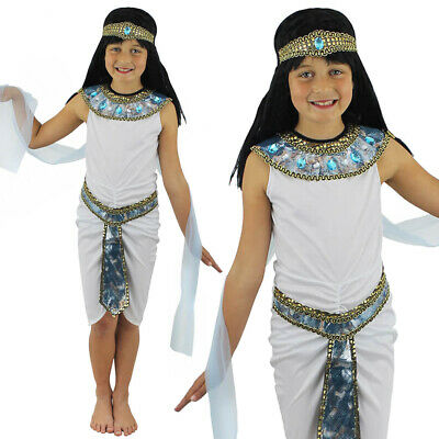 Girls Egyptian Queen Of The Nile Cleopatra Fancy Dress Small Medium Large Costum  sc 1 st  PicClick UK & CHILDu0027S EGYPTIAN GIRL Costume Queen Of The Nile Cleopatra Fancy ...