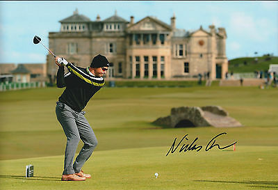 Niclas FASTH SIGNED AUTOGRAPH 12x8 Photo AFTAL COA St Andrews Golf Scotland