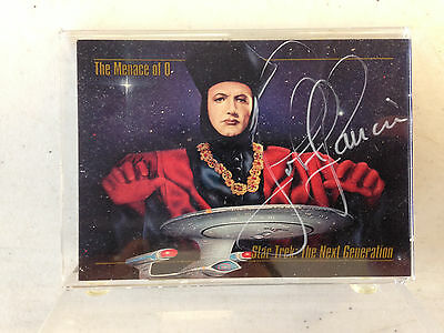 Star Trek The Next Generation John Delancie Q Limited Edition Autograph Card