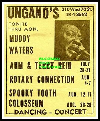 "MUDDY WATERS, COLOSSEUM  - MINI-POSTER PRINT 7"" x 5"""