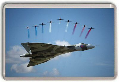 Red Arrows And Vulcan Bomber Fridge Magnet