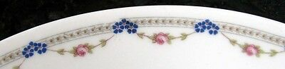 KPM Germany Plate*Red Swag Roses & Blue Forget Me Nots