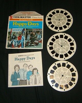 HAPPY DAYS SHOWTIME ABC TV 1974 View-Master Reels GAF HARD TO FIND HTF RARE