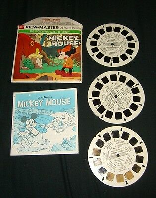 DISNEY MICKEY MOUSE BRAVE PLUTO  View-Master Reels GAF HARD TO FIND HTF RARE