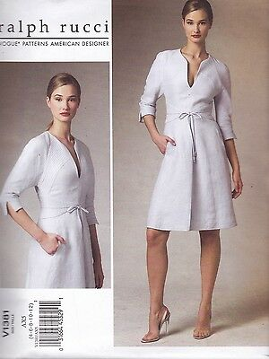 Vogue Sewing Pattern Ralph Rucci American Designer Dress sizes 4 - 20 V1381