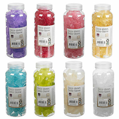 Decorative Glass Stones Pebbles Candle Flower Vase Decoration Wedding Aggregates