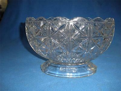 Stunning 24% Lead Crystal Large Patterned Bowl