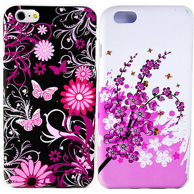 2 Pcs Beautiful TPU Silicone Soft Back Cover Case For Apple iPhone 6 Plus 5.5""