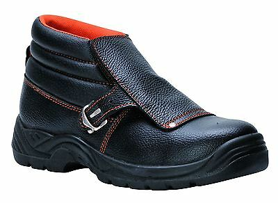 Portwest Welders Safety Work Boots Shoes Toe Cap Leather Flap Welding  5-13 FW07