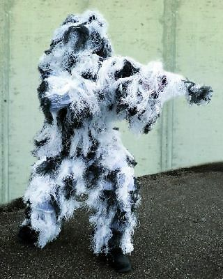 Ghillie Suit Anti Fire Snowtarn Winter Camo  Fadenghillie Paintball