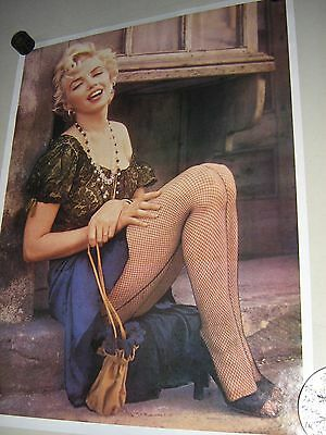 """Marilyn Monroe - Orig. vintage """"carnival type"""" Poster / Fishnet /exc. New cond."""