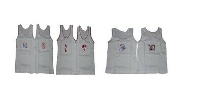 Girls Character 2 Pack Vest Tops Underwear Disney Minnie Mouse Princess Or Sofia