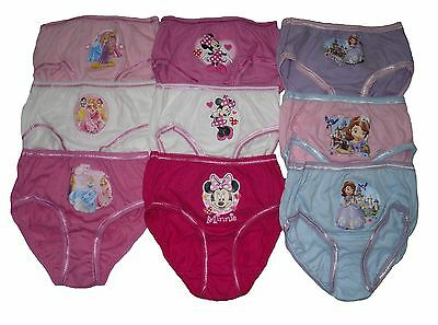 Girls Character 3 Pack Knickers Underwear Disney Minnie Mouse Princess Or Sofia