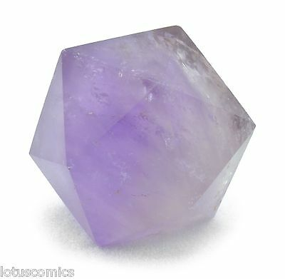 116 ct Icosahedron (D 20) Real Amethyst Sacred Geometry FREE SHIPPING I103