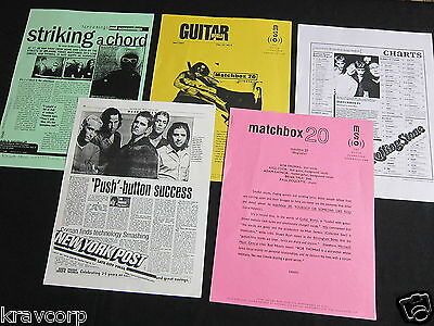 Matchbox 20 'Yourself Or Someone Like You' 1997 Press Kit