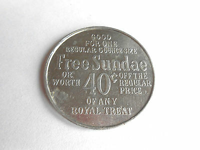 Vintage Dairy Queen Free Sundae or 40 cent Advertising Trade Token Coin