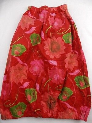 new 8-10y TOFF TOGS girls designer red floral cord bubble long skirt NWOT