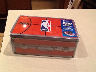 NEW Wrapped NBA 200 Chip Poker Set plus 2 Official NBA licensed decks and more