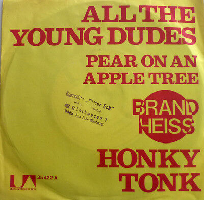 """7"""" 1972 KULT VG++++ ! HONKY TONK : All The Young Dudes"""