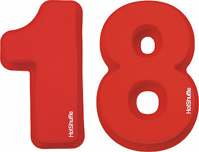 Large Silicone Number 18 Cake Tin Mould 18th Birthday Tins Moulds Gift Baking