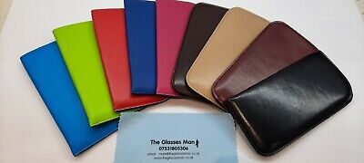 Glasses Spectacle Cases Leather Effect Slip In Cases Four Different Colours Ce