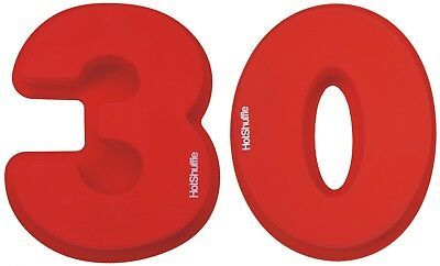 Large Silicone Number 30 Cake Tin Mould 30th Birthday Pearl Wedding Anniversary