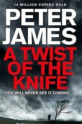 A Twist of the Knife by Peter James (New Hardback Book) 9780230764378