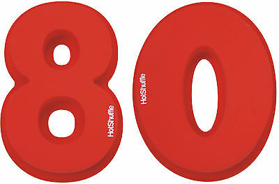 Large Silicone Number 80 Cake Tin Mould 80th Birthday Wedding Anniversary Gift