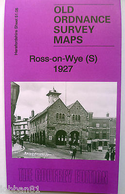 OLD Ordnance Survey Map  Ross on Wye (S) 1927 Herefordshire Sheet 51.08 New