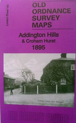 OLD ORDNANCE SURVEY MAP ADDINGTON HILLS & CROHAM HURST  LONDON 1895 Sheet 160