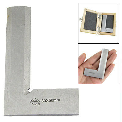 90 Degree Stainless Steel Square Angle Ruler 80 x 50mm