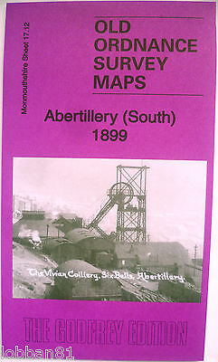 OLD ORDNANCE SURVEY MAP ABERTILLERY (SOUTH) MONMOUTHSHIRE  1899 Sheet 17.12 New