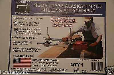 Granberg Alaskan Chain Saw mill Mark lll 24 inch
