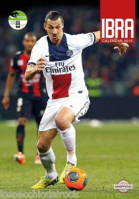 "IBRA IBRAHIMOVIC Calendario Calendar 2015 Include 12 ""Adesivi Sticker"