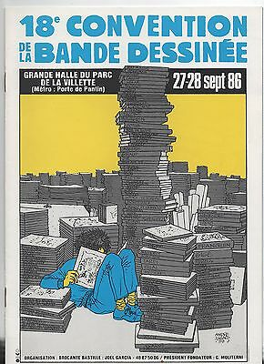 JUILLARD. Catalogue 18e Convention de la bande dessinée. 1986
