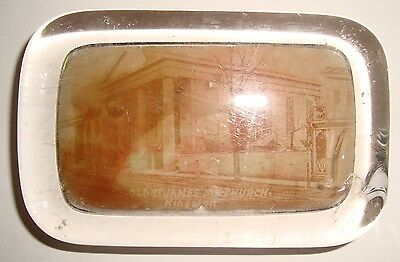 Antique Glass Paperweight with photo-