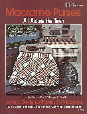 Macrame Purses All Around the Town Cathy Bonds Vintage Pattern Book NEW 1978