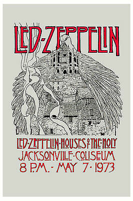 Led Zeppelin  * Houses Of Holy *  Florida Concert Poster Circa 1973