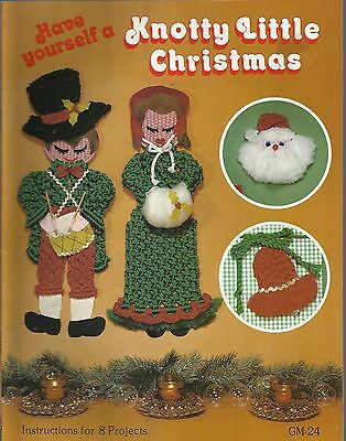 Have Yourself a Knotty Little Christmas Vintage Pattern Project Book NEW 1979