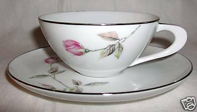 """STYLE HOUSE FINE CHINA DAWN ROSE CUP AND SAUCER 1 7/8"""""""