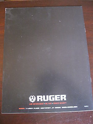 Ruger Law Enforcement / Military / Private Security Catalog / 2011 / 22 Pages