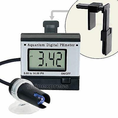 pH-mètre Aquarium 0,00~14,00pH Digital pH meter Testeur l'eau + solutions