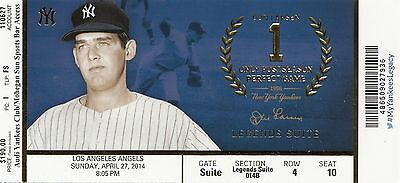 2013 NY YANKEES VS ANGELS TICKET STUB JETER 8//15//13 MIKE TROUT SB STOLEN BASE