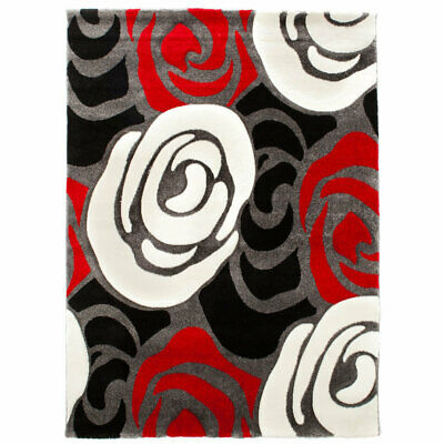 Tomasucci rose red and black tappeto
