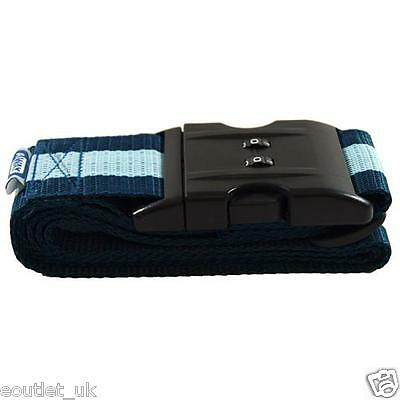 Combination Luggage Suitcase Straps Travel Baggage Belt Lockable 1.65m NEW