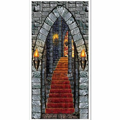 Castle Entrance Door Cover - 76 x 152 cm - Medieval Party Halloween Decorations